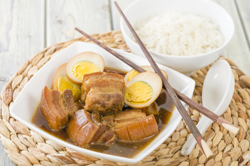 Thit Heo Kho Trung - Vietnamese caramelized pork with eggs