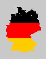 Allemagne carte drapeau