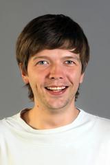 Joyful caucasian man