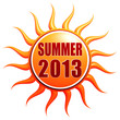 summer 2013 in 3d sun label