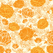 Vector golden art flowers elegant seamless pattern background