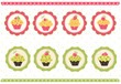 Set of cake stickers