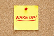 Wake Up Sticky Note