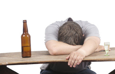 man and alcoholism