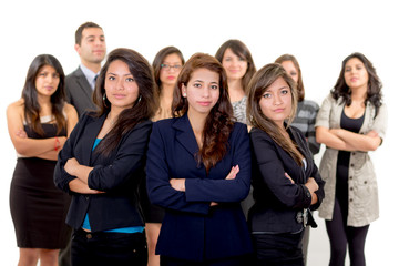 Group of successful hispanic business people