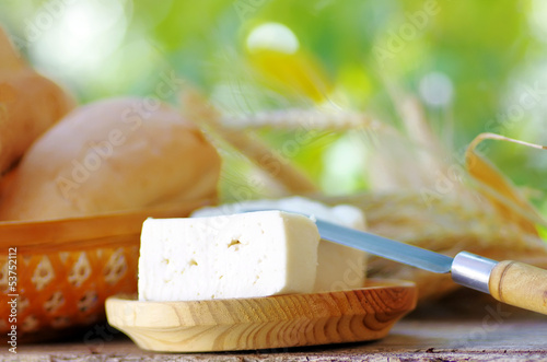 white cheese of goat