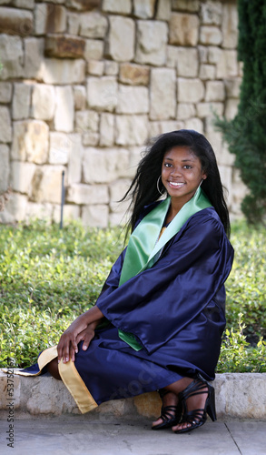 Portrait of Beautiful happy African-American graduate