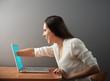 woman has an internet addiction