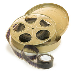 35mm Film In Reel And Its Can