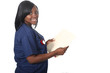 Nurse with Medical Records