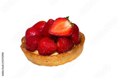 Erdbeer - Törtchen, freigestellt