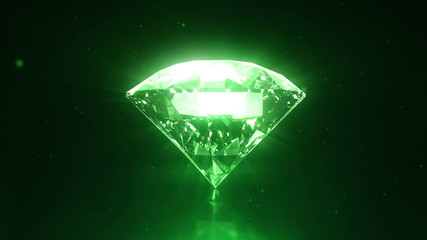 Green diamond - loopable with particles