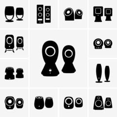 Speaker device icons