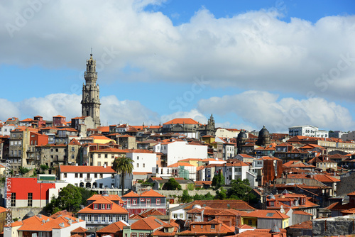 Porto Old City and Clerigos Tower, Oporto, Portugal