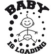 canvas print picture - Baby Is Loading