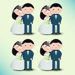 Vector illustration of wedding couple