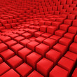 Red mosaic surface