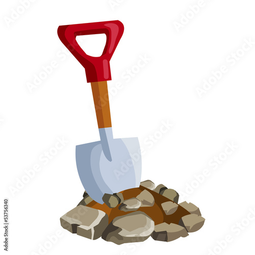 Shovel in ground