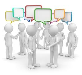 Gruppe diskutiert