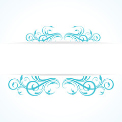 creative floral design vintage stock vector