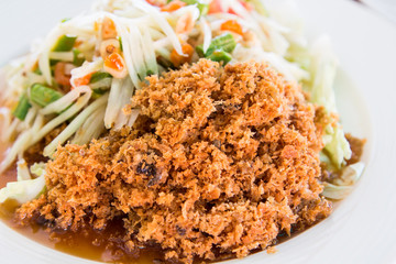 Crispy catfish salad.