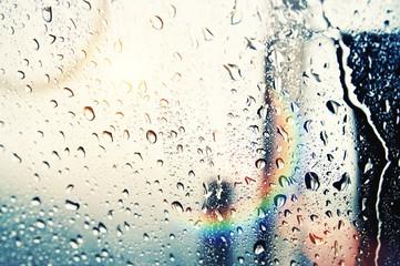 sun and raindrops