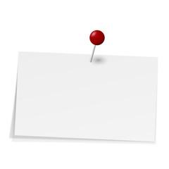Notizzettel mit Stecknadel