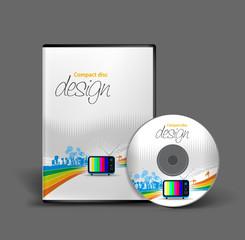 vector media cd cover design template, vector illustration