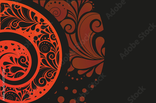 Geometrical tribal pattern design template