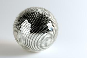 Huge Disco Ball On White Background