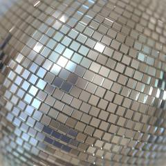 Silver Shining Disco Ball Background