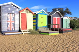 Colourful bathing boxes in australia