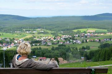 Landschaft Mehlmeisel im Fichtelgebirge Foto