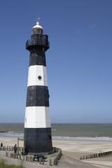 schwarz-weißer Leuchtturm