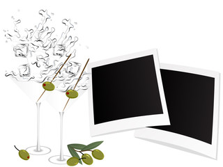 Martini and photo frames