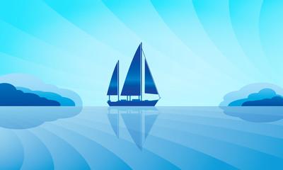 Sailing ship on skyline