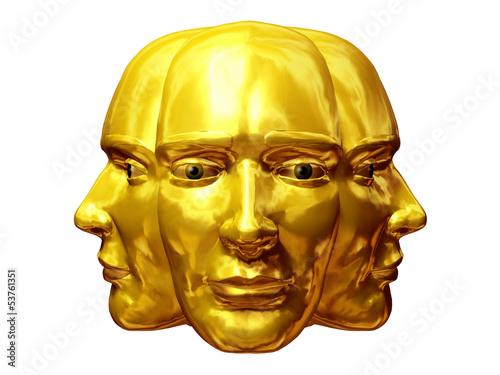 Janus head, past, present, future