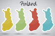 stickers in form of Finland