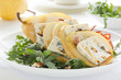 Salad with pear and Gorgonzola.