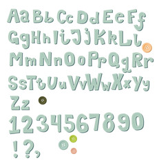 Chunky Sew-On Alphabet and Numerals