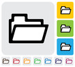 folder icon(symbol) used for online data management- vector grap