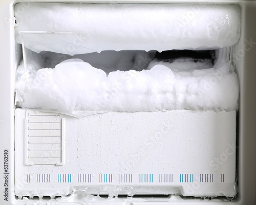 Leinwanddruck Bild Trouble of refrigerator