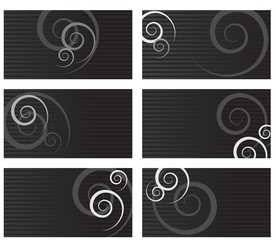 Swirl business cards