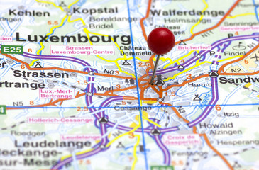 The City of Luxembourg on a Map