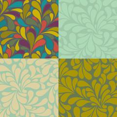 Set of Seamless Swirly Patterns