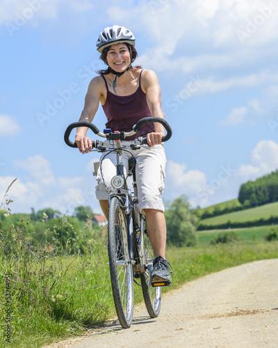 Leinwandbild Motiv Freude am Radfahren