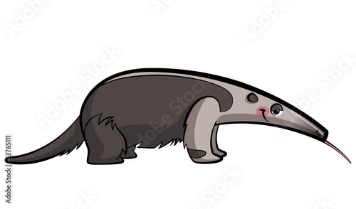 Cartoon anteater animal