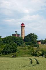Leuchttürme auf Kap Arkona, Rügen, Deutschland