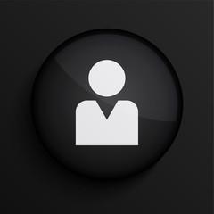 Vector black circle icon. Eps10