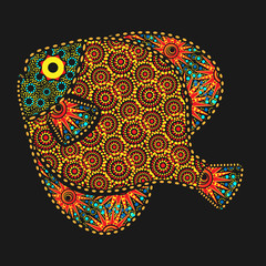 African style ornate fish